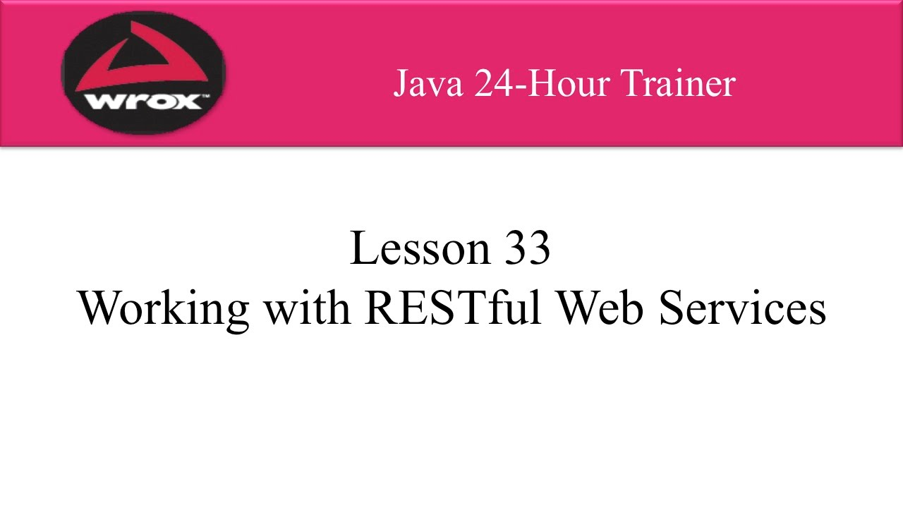 7 wrox java rest web services tutorial overview youtube wrox java rest web services tutorial overview baditri Images
