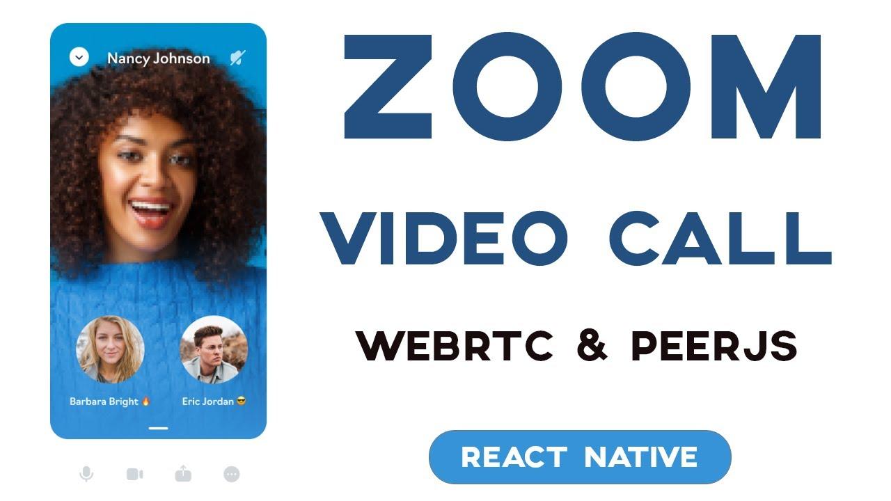 React Native Zoom Clone WebRTC | Video Call App with Socket.IO & PeerJS