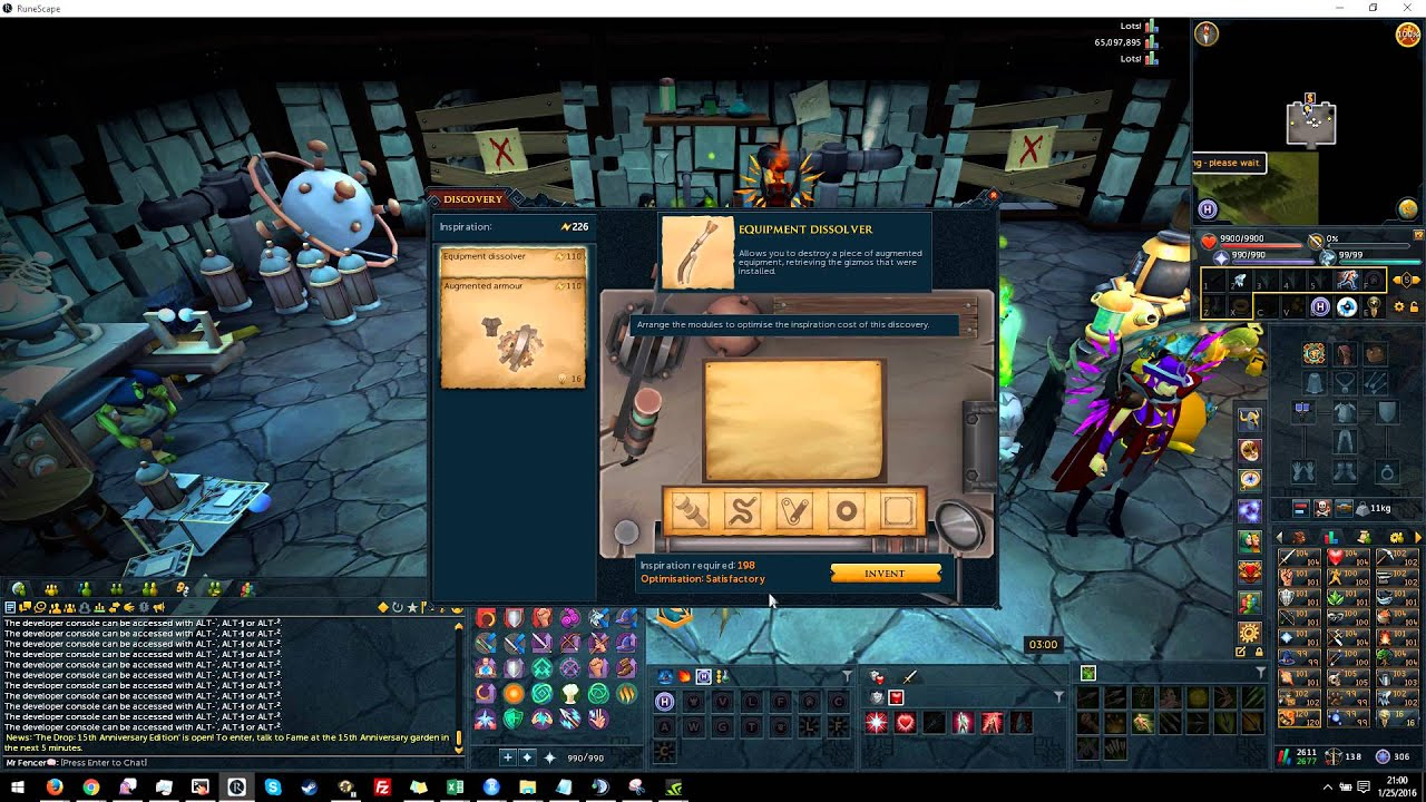 Runescape invention discovery perfect optimization guide youtube malvernweather Images