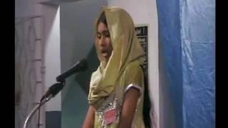 "Ahmadi/Qadiani Girl Speaks on Hadhrat Bilal (RA) ""Waqf-e-Nou Ijtema Chennai-2012"""