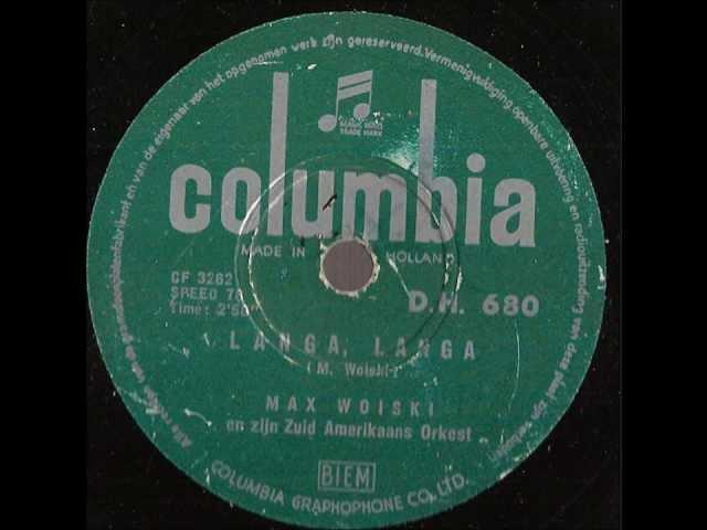 Max Woiski -- Langa Langa -- 78 rpm