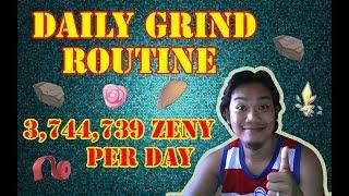 3,744,739 MILLION ZENY PER DAY - DAILY GRIND TOP SECRET (RAGNAROK MOBILE)