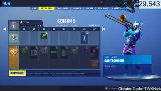 All 100 Fortnite Season 9 Battle Pass items & Skins - New Menu Designs & Store