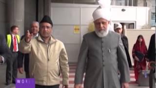 Hazrat Mirza Masroor Ahmad arrives in Spain