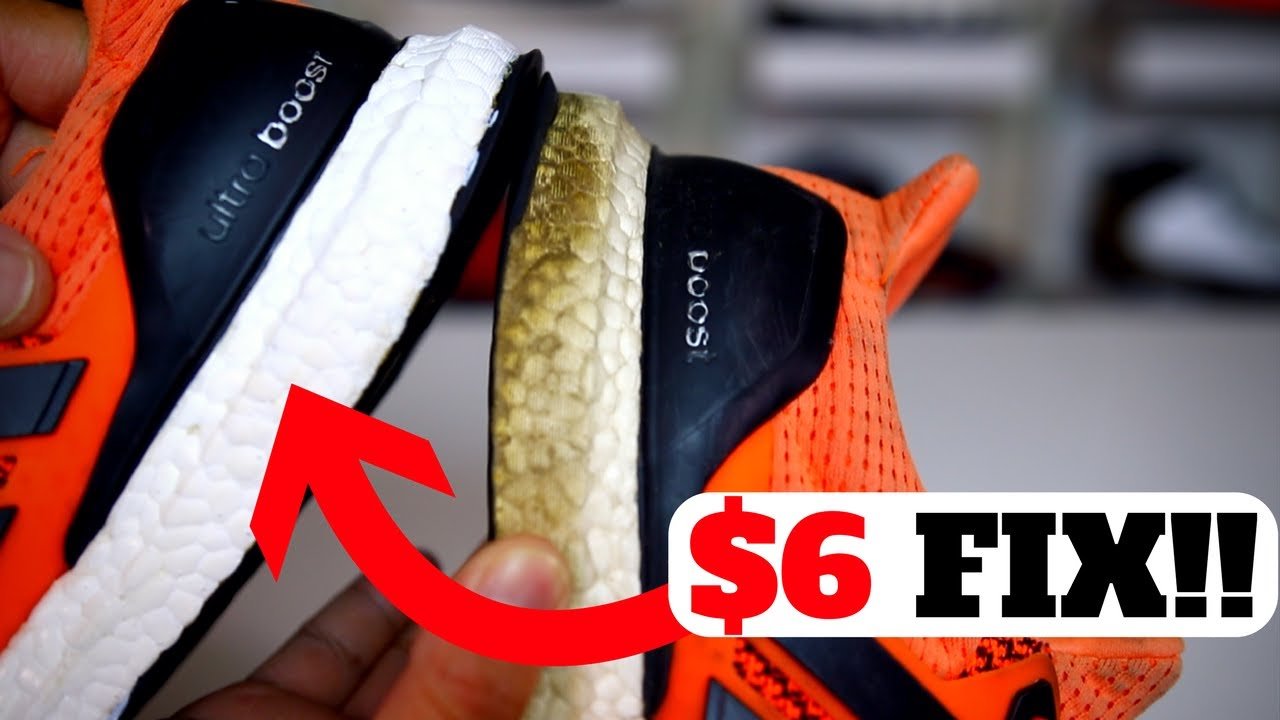 6aacb07c872 HOW TO WHITEN ADIDAS BOOST FOR ONLY  6!! (RESTORE ULTRA BOOST   NMD FROM  YELLOWING)