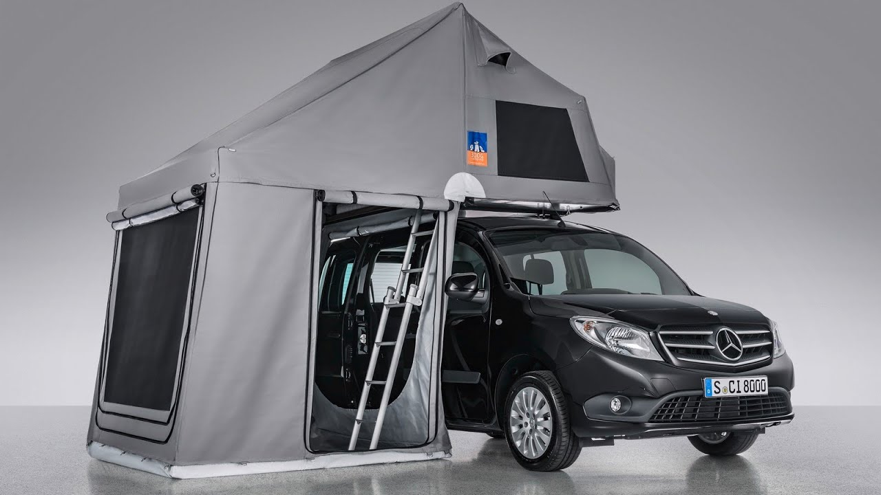 mercedes citan tourer with 3dog camping topdog roof tent youtube. Black Bedroom Furniture Sets. Home Design Ideas