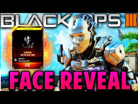 SPECTRE FACE REVEAL!! Black Ops 3 (Chrome Character Gear)