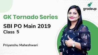 SBI PO Main 2019: Important Questions from GK Tornado