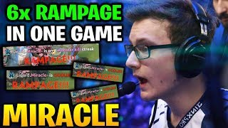 MIRACLE 6X RAMPAGE IN ONE PHANTOM ASSASSIN GAME!! CRAZY FARMING HEROES