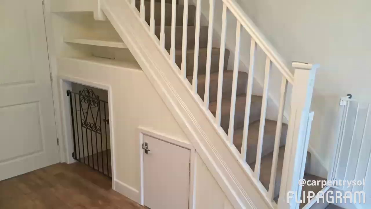 New Under Stairs Dog Kennel Complete With Storage Youtube