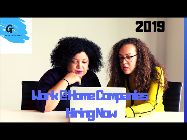 Work at Home Jobs December 2018