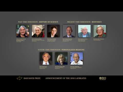 2018 Dan David Prize Laureates Announcement