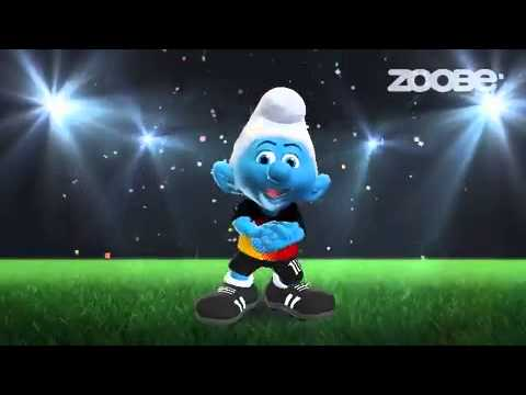 Kleiner schlumpf singt fussball lied