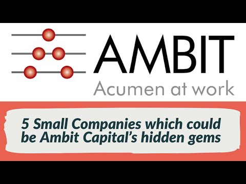 5 Small Companies which could be Ambit Capital's hidden gems for value investors