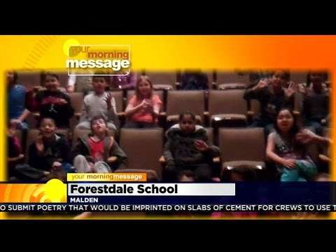 Your Morning Message: Tuesday March 24, 2015: Forestdale School in Malden, MA