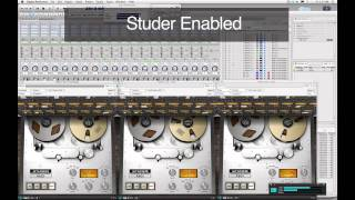 Studer A800 Multichannel Tape Recorder Plug-In Demo