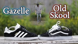 Vans Old Skool vs Adidas Gazelle | Sneaker Comparison + On-Feet w/ Outfit
