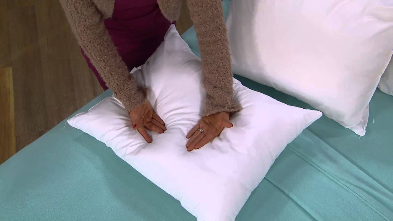 PedicSolutions Gel Memory Foam and Fiber Set of 2 QN Pillows with