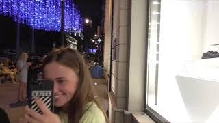 Смотреть видео [Псв 11] Прогулка по ночной Москве улица Большая Дмитровка ночью летом в центре район Б.Дмитровка онлайн