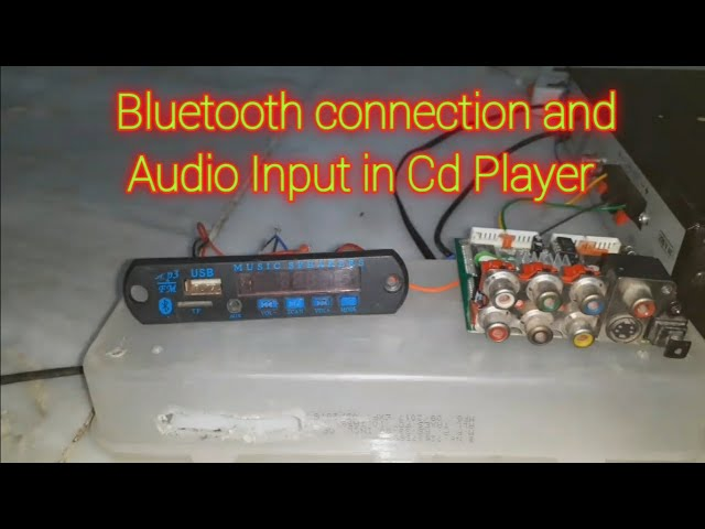 Bluetooth connection and Audio input in dvd player