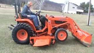 2006 Kubota B7800 Compact Tractor LA402 Loader With 72