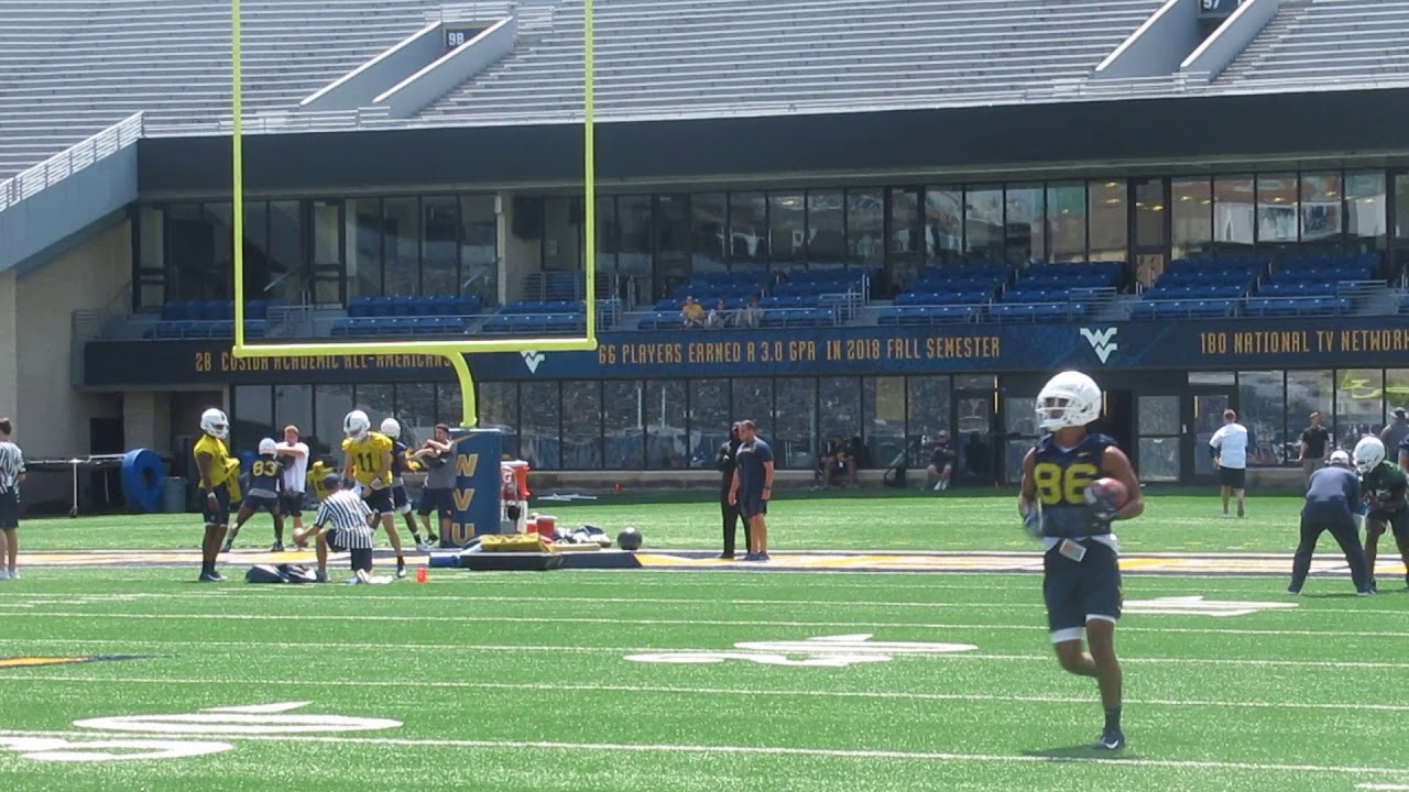 West Virginia Football Fall Camp Sights And Sounds Quarterbacks And Wide Receivers