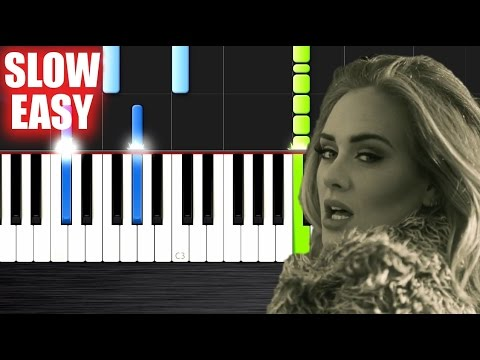 Adele - Hello - SLOW EASY Piano Tutorial by PlutaX
