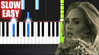 Adele Hello SLOW EASY Piano Tutorial by PlutaX