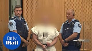 Brenton Harrison Tarrant flashes white supremacist symbol in court