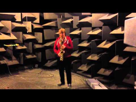 Saxophone in Reverberation Room and Anechoic Chamber