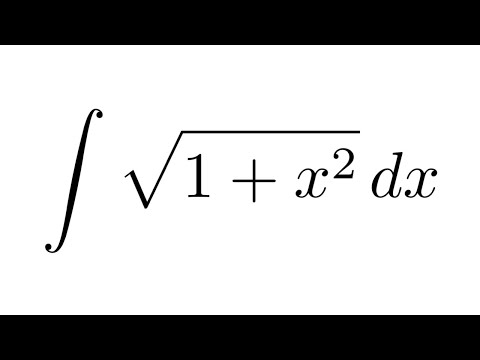Integral of sqrt(1+x^2) (substitution + by parts)