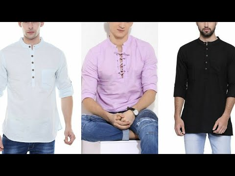 Men's kurta with jeans//young generation fashion//simple cotton kurta with jeans//