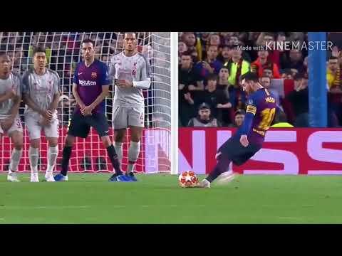 Фантастический гол Месси в ворота Ливерпуля в полуфинале Лиги Чемпионов !