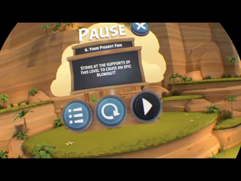 Angry Birds VR: Isle of Pigs - Playthrough |