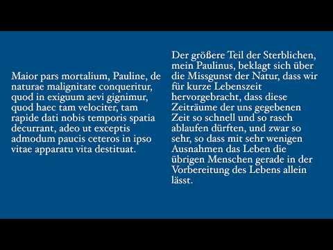 Seneca - De Brevitate Vitae I (Lateinischer Text mit deutscher Übersetzung)