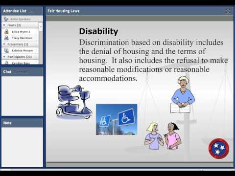 Fair Housing Laws Webinar- 4/18/2017