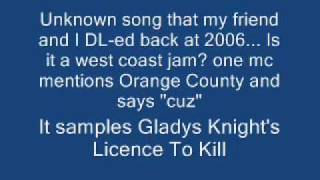 Unknown rap song that samples Gladys Knight