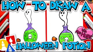 How To Draw Halloween Potion With Mrs. Hubs