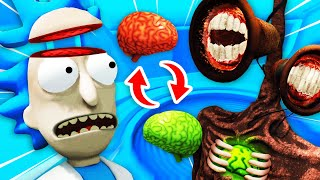 Swapping RICK'S BRAIN With SIREN HEAD'S BRAIN (Rick and Morty: Virtual Rick-Ality Funny Gameplay)