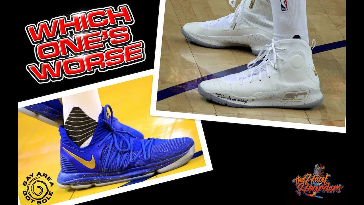 706feda551d2 Under Armour Curry 4 vs. Nike KD X