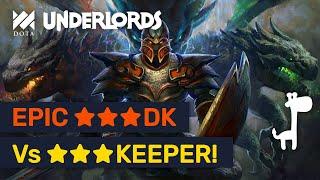 ★★★ Dragon Knight Vs ★★★ Keeper Of The Light! Epic Comeback!   Dota Underlords