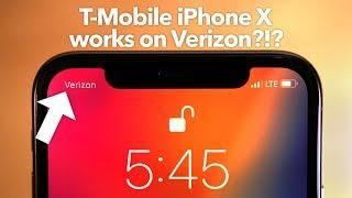 T-Mobile iPhone X Works on Verizon!?!?