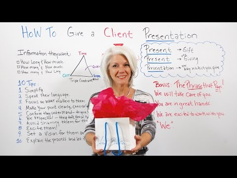 How To Give a Client Presentation