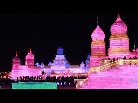 2018 Edition of World's Largest Ice Festival Underway in China's Harbin