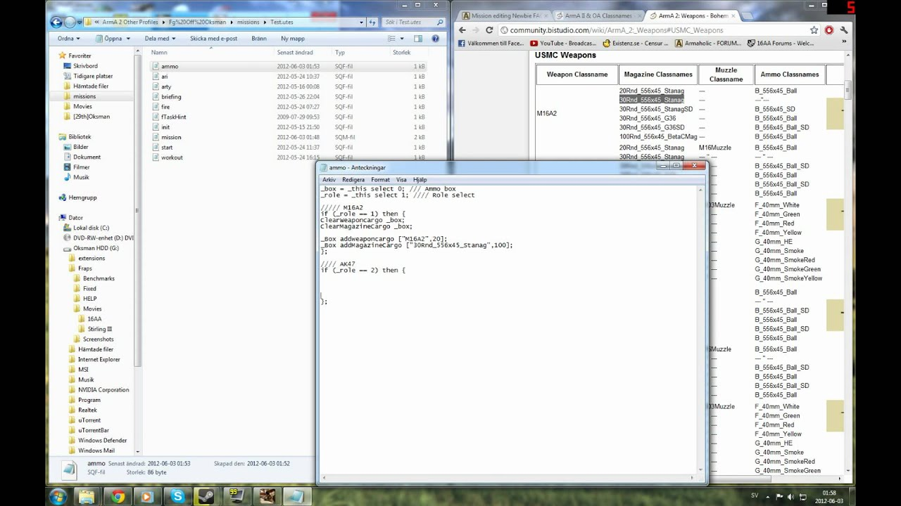 Arma 2 Editing & Scripting - Ammo crate script by OksmanTV