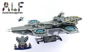 Lego Super Heroes 76042 The SHIELD Helicarrier - Lego Speed Build Review