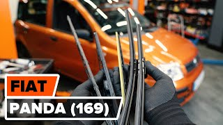 Come cambiare Spazzola tergi FIAT PANDA (169) - video tutorial