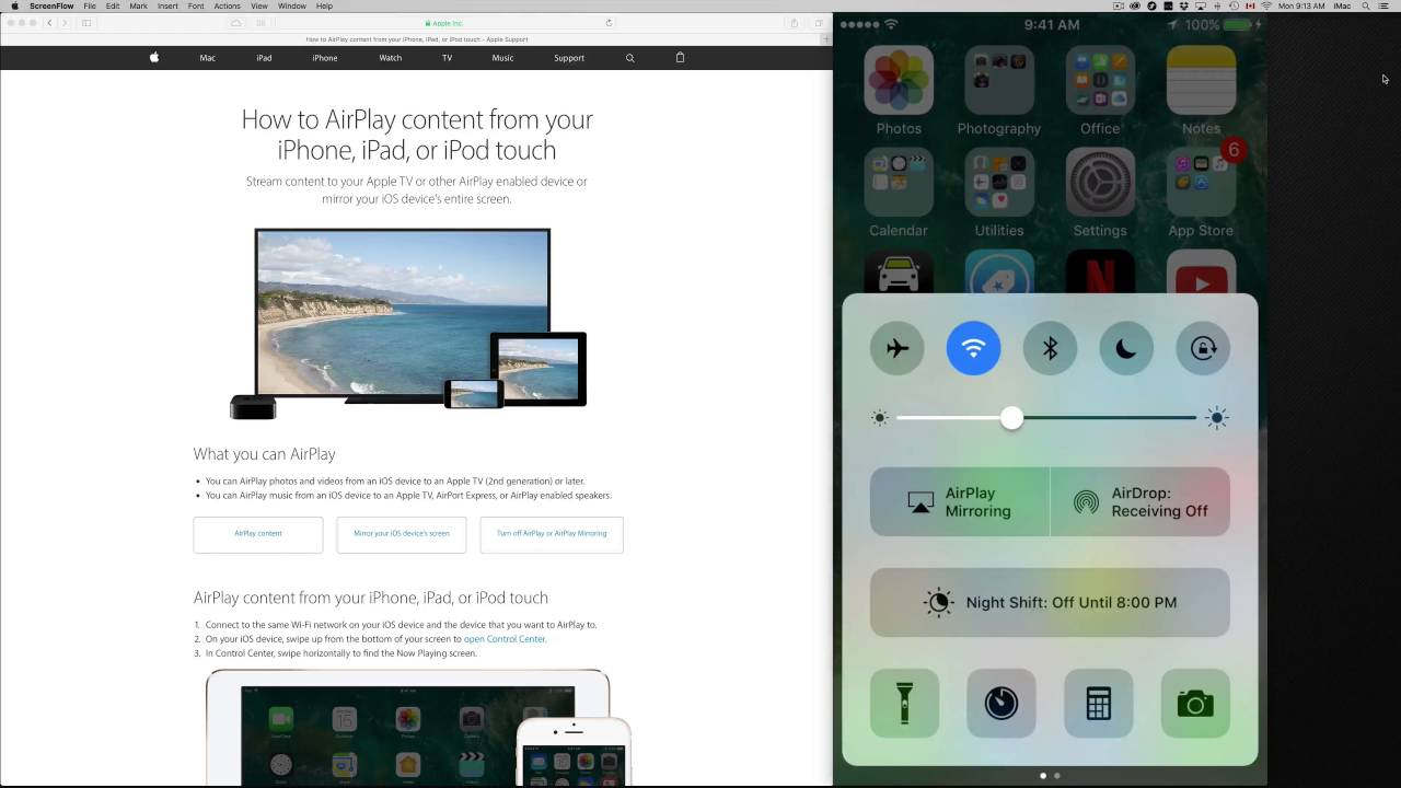 How to airplay in ios 10 ipod touch youtube ccuart Images