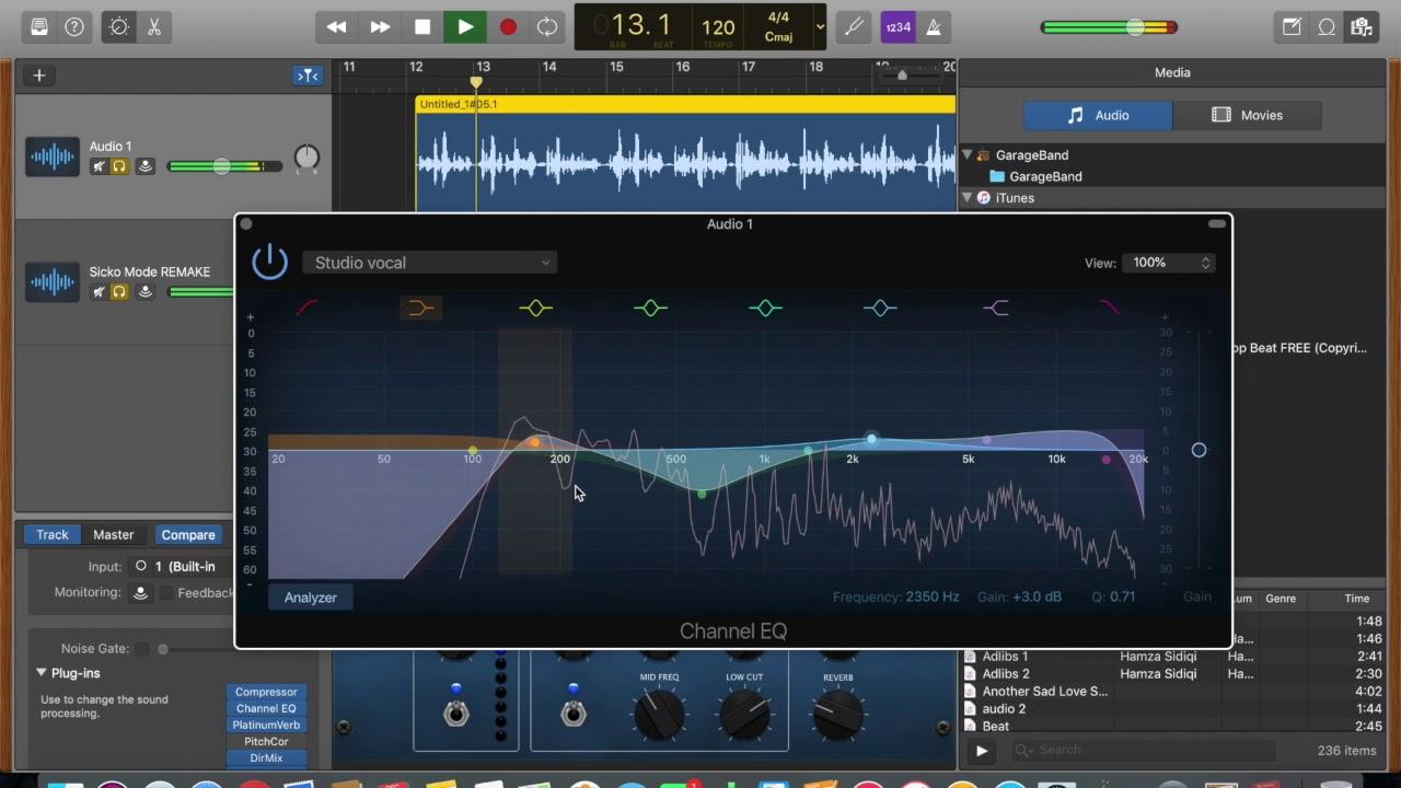 HOW TO MIX RAP VOCALS GARAGEBAND MAC