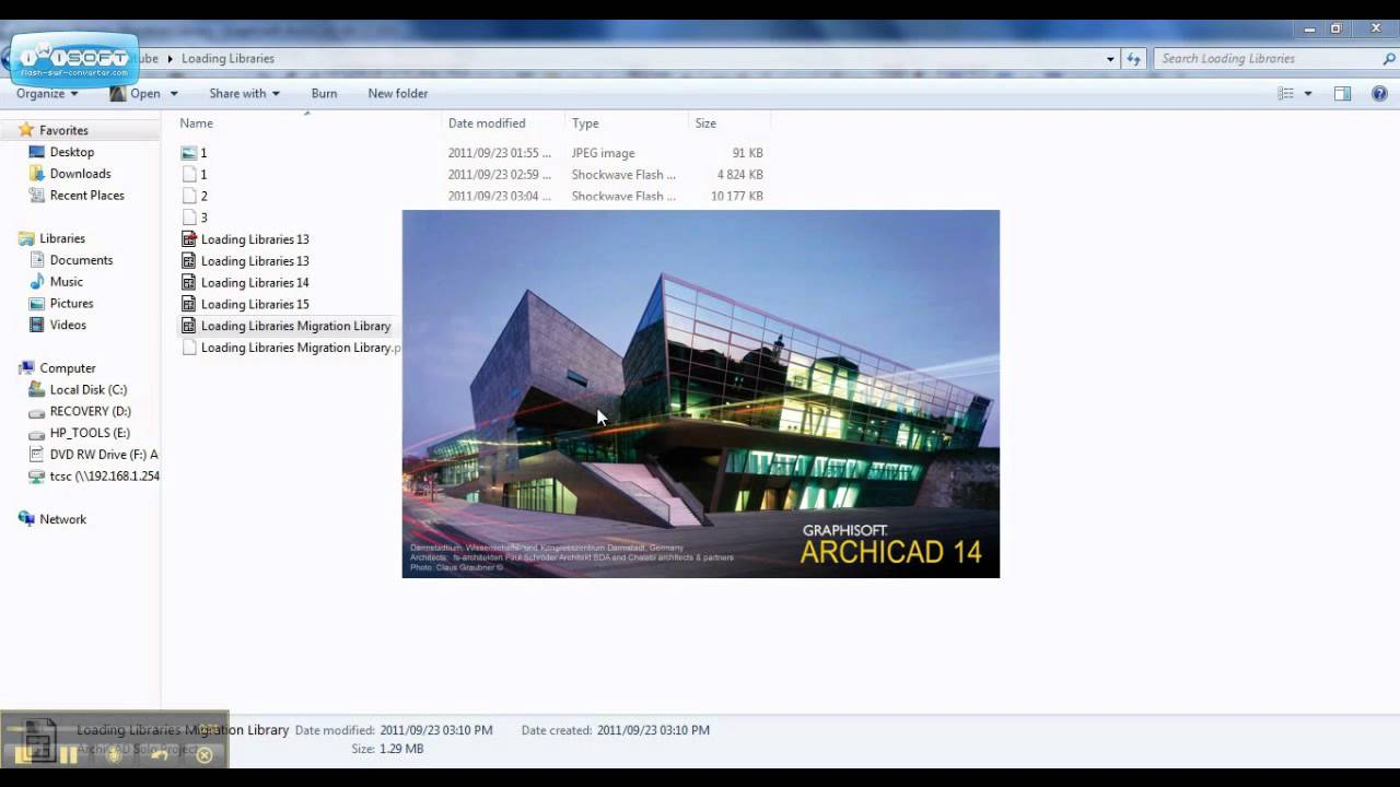 ArchiCAD: Loading Libraries wmv